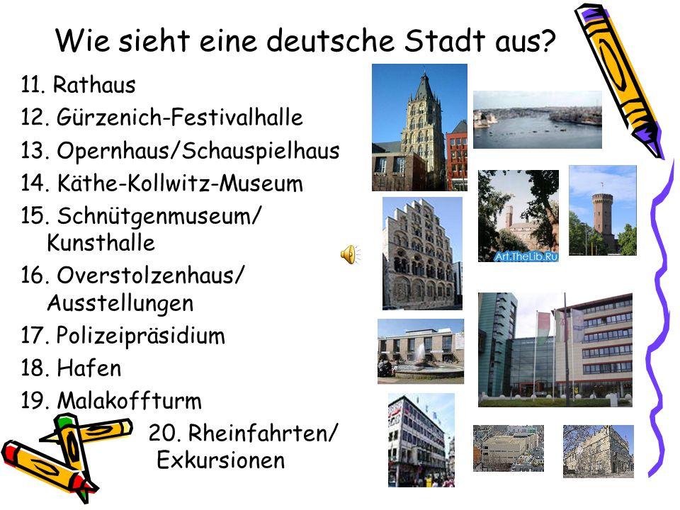 Wie sieht eine deutsche Stadt aus