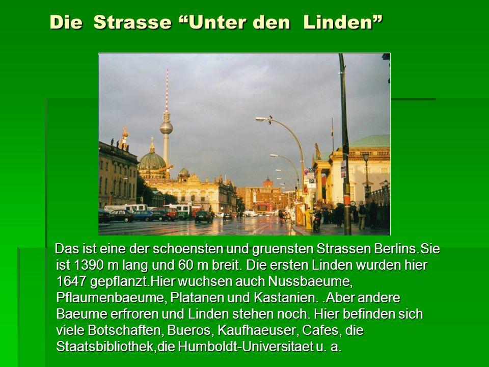 Die Strasse Unter den Linden
