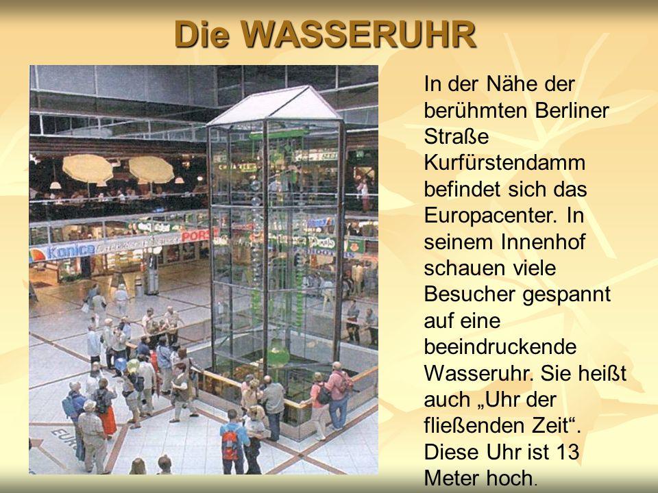 Die WASSERUHR