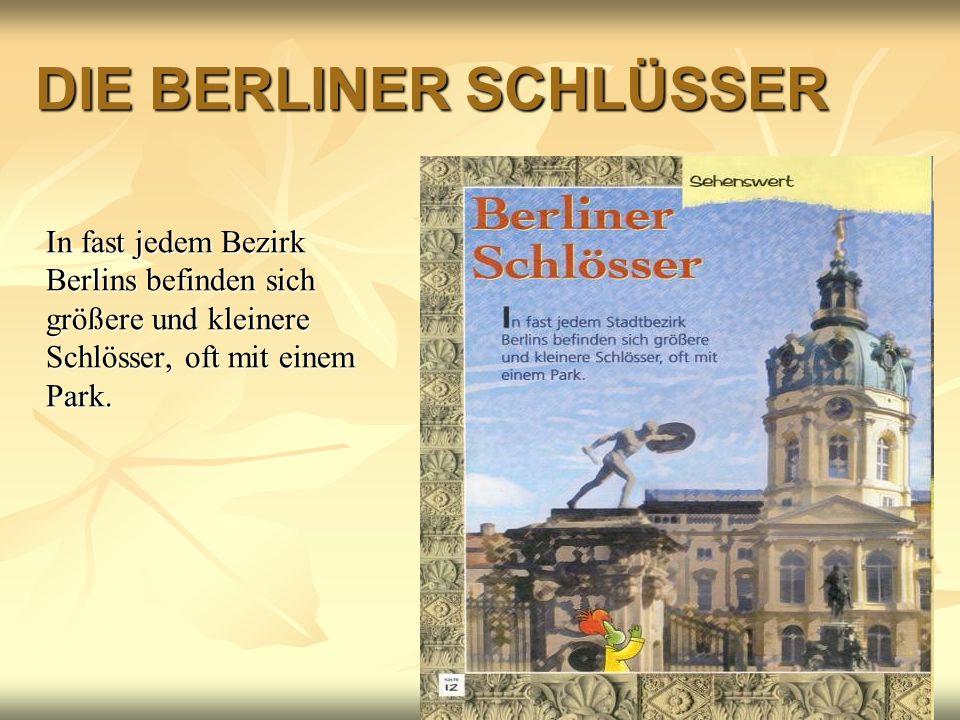 DIE BERLINER SCHLÜSSER