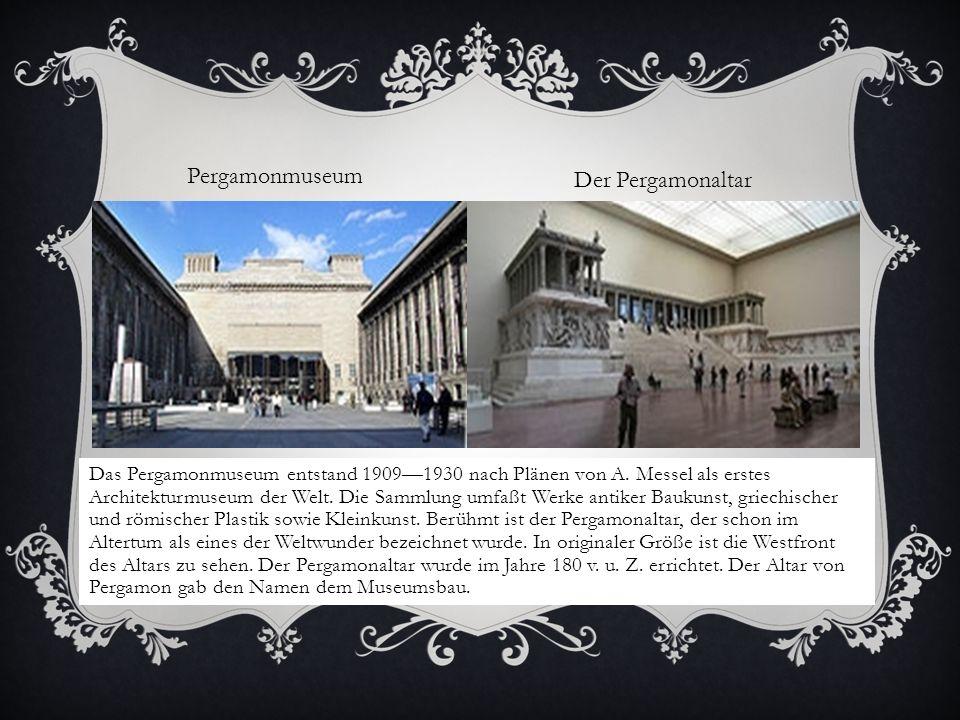 Pergamonmuseum Der Pergamonaltar