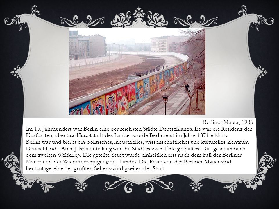 Berliner Mauer, 1986