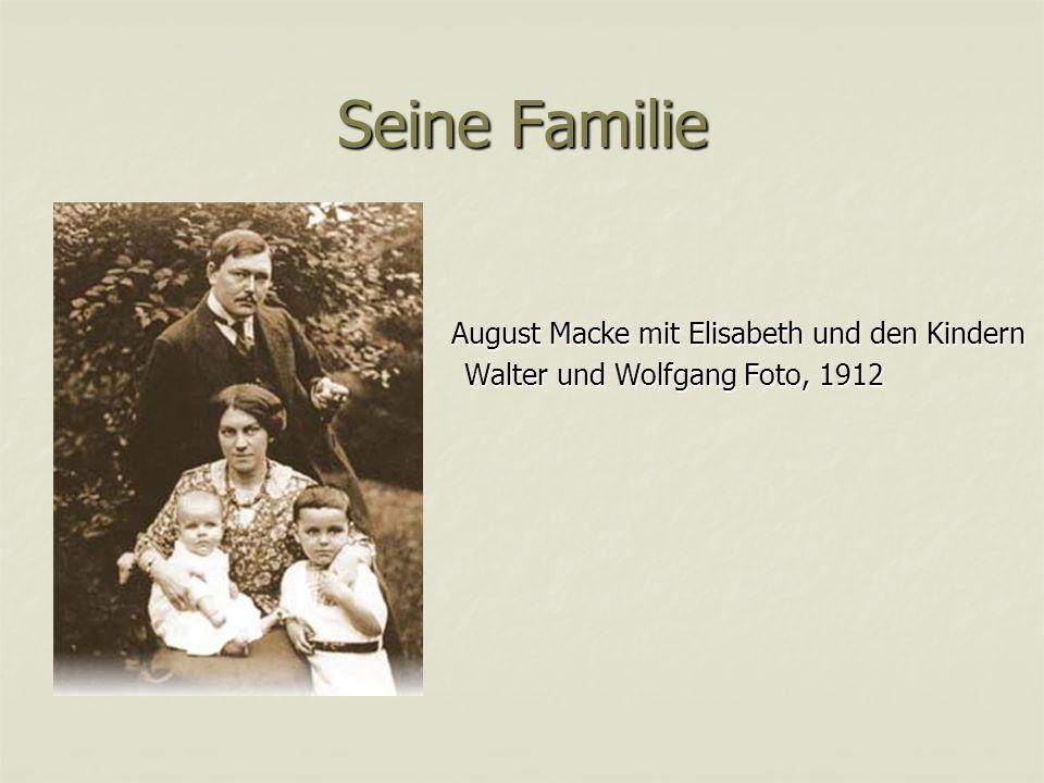 Seine Familie Walter und Wolfgang Foto, 1912
