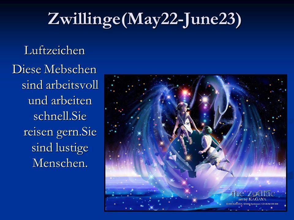 Zwillinge(May22-June23) Luftzeichen