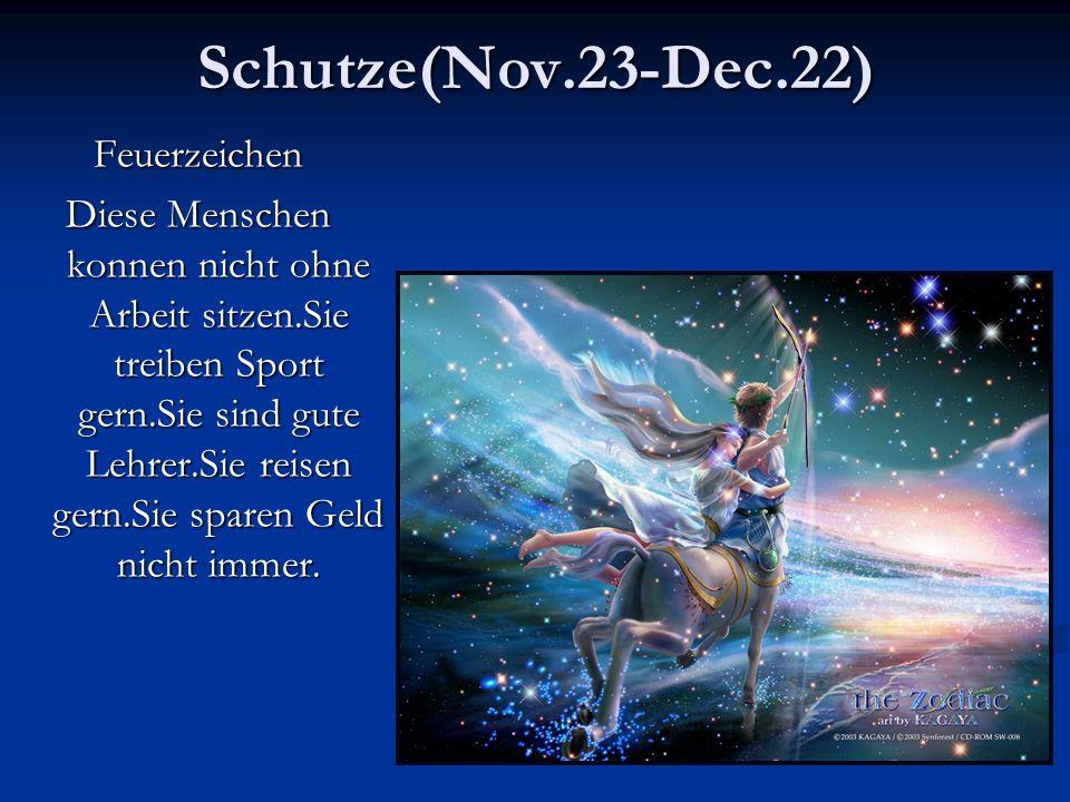 Schutze(Nov.23-Dec.22) Feuerzeichen