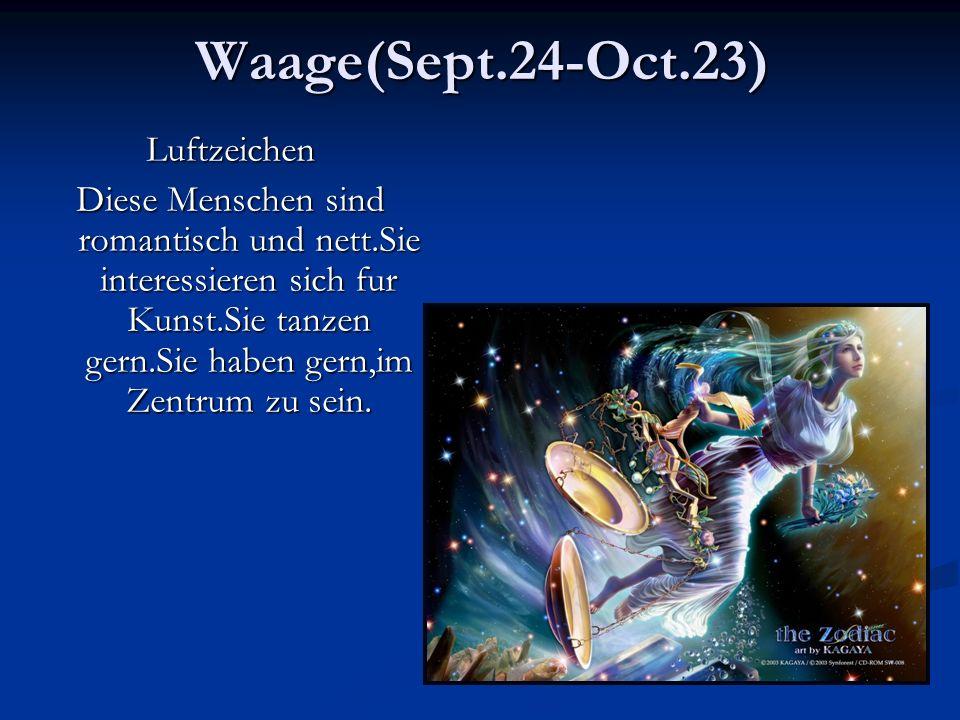 Waage(Sept.24-Oct.23) Luftzeichen