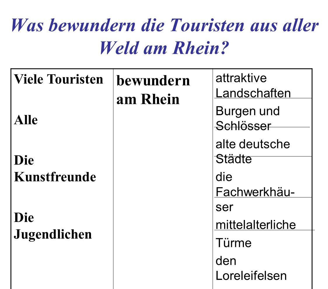 Was bewundern die Touristen aus aller Weld am Rhein