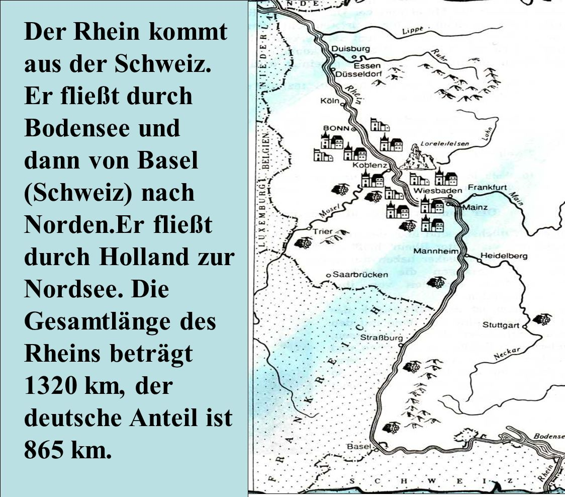 Der Rhein kommt aus der Schweiz