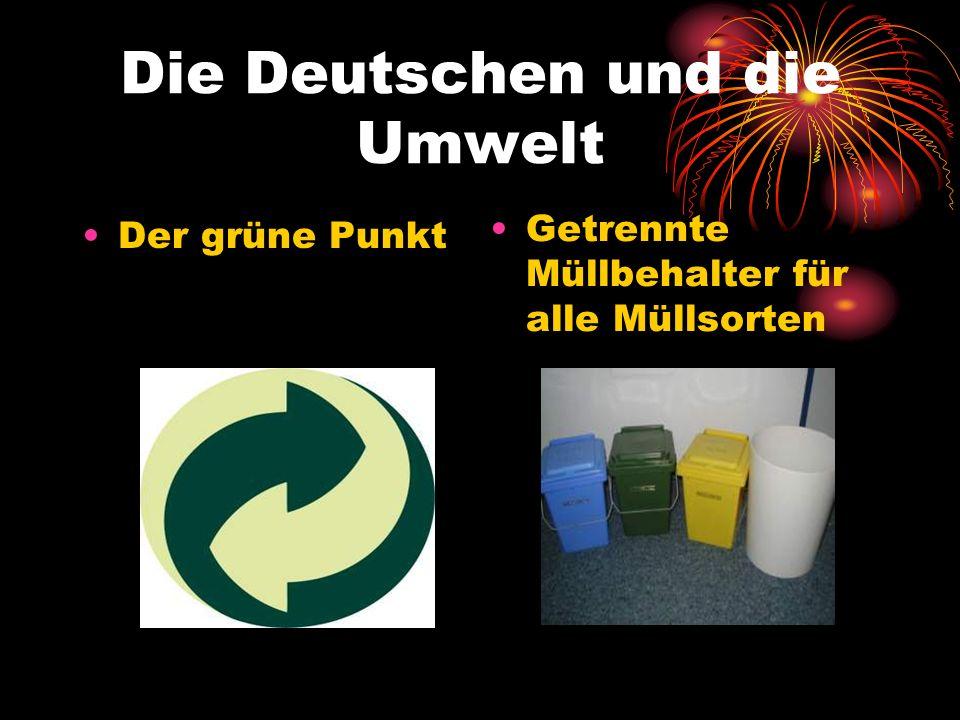 Die Deutschen und die Umwelt