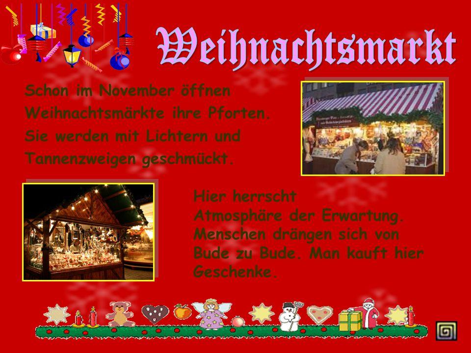 Weihnachtsmarkt Schon im November öffnen