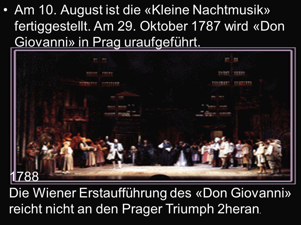 Am 10. August ist die «Kleine Nachtmusik» fertiggestellt. Am 29