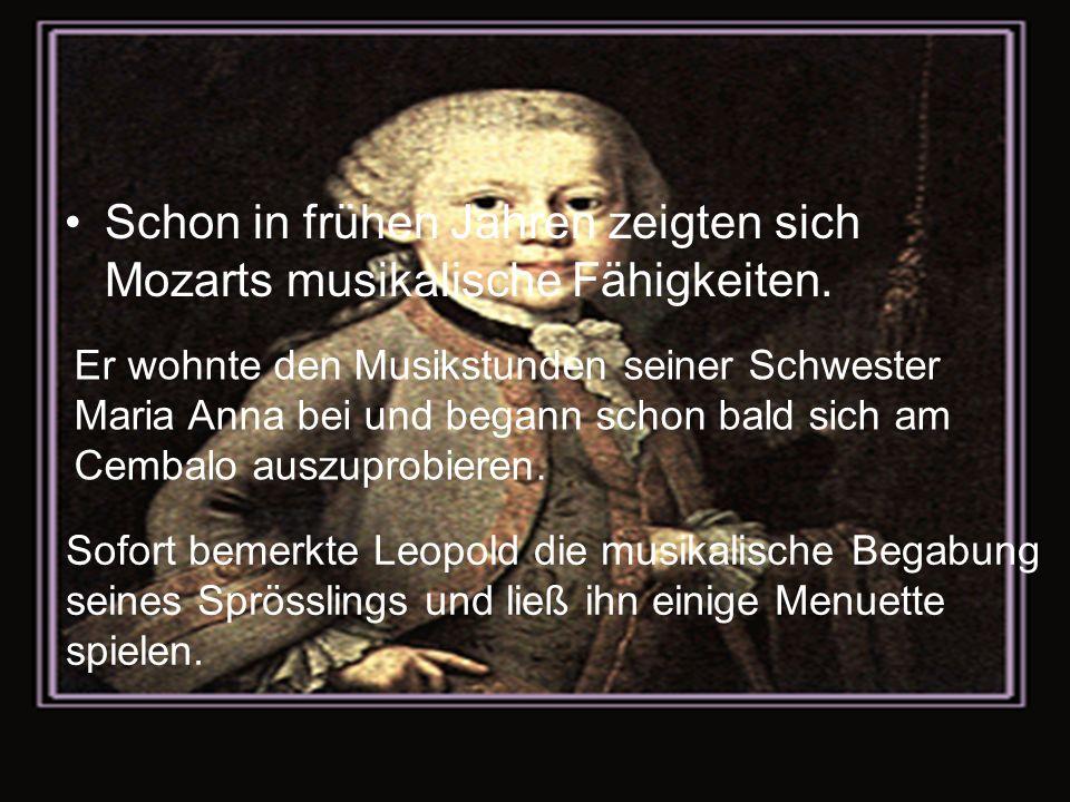 Schon in frühen Jahren zeigten sich Mozarts musikalische Fähigkeiten.