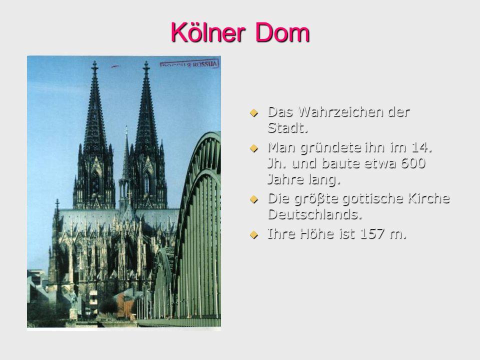 Kölner Dom Das Wahrzeichen der Stadt.