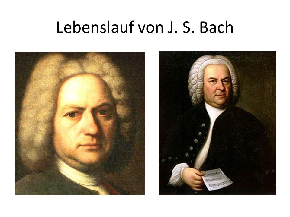 Lebenslauf von J. S. Bach