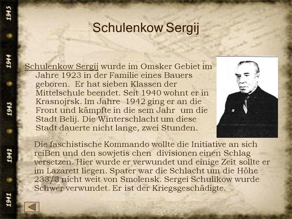 Schulenkow Sergij