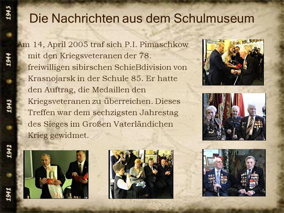 Die Nachrichten aus dem Schulmuseum