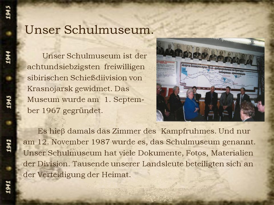 Unser Schulmuseum.