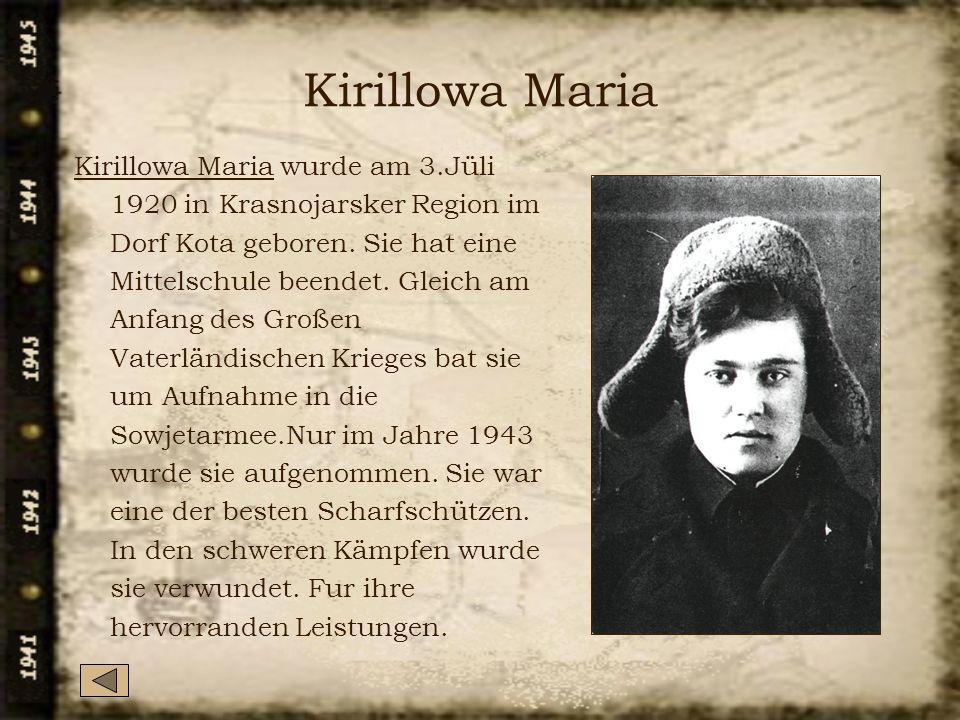 Kirillowa Maria