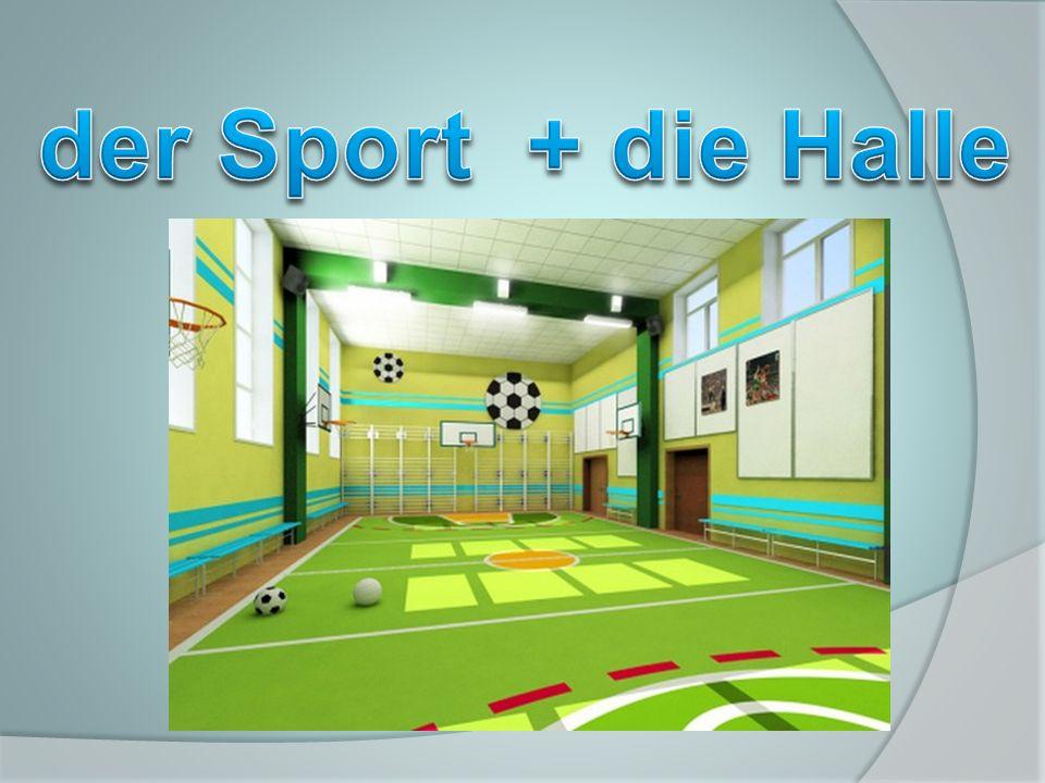 der Sport + die Halle
