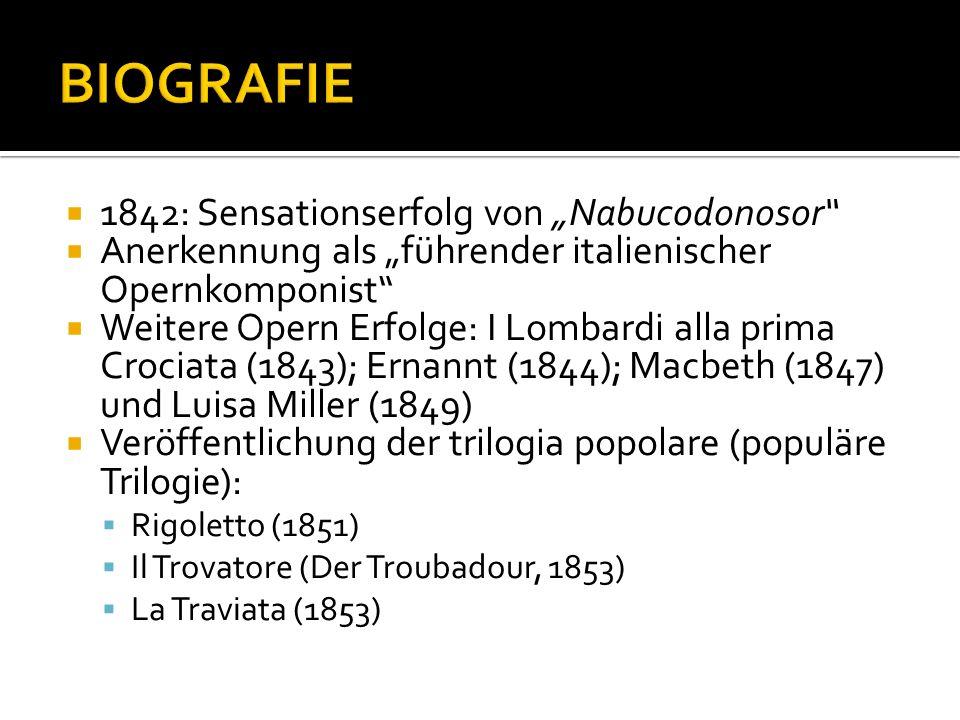 """BIOGRAFIE 1842: Sensationserfolg von """"Nabucodonosor"""
