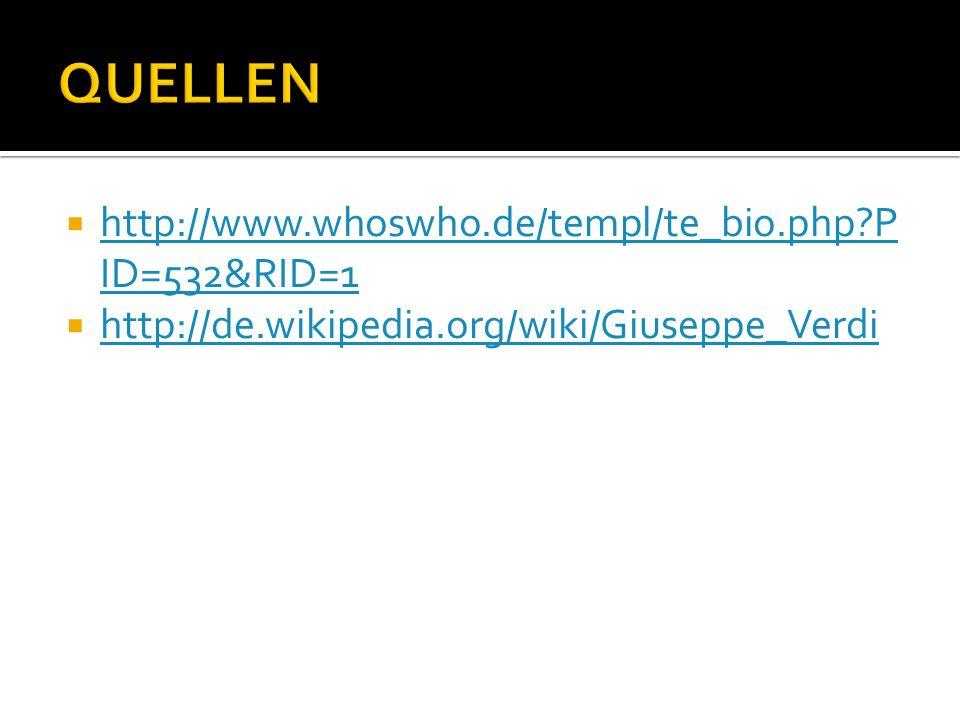 QUELLEN http://www.whoswho.de/templ/te_bio.php PID=532&RID=1
