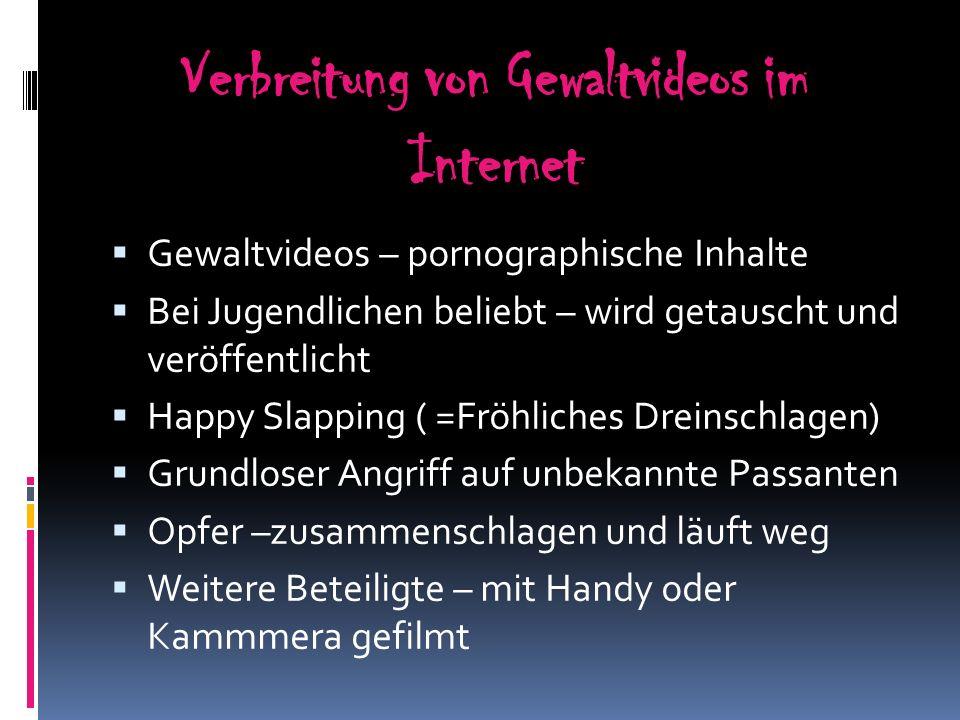 Verbreitung von Gewaltvideos im Internet