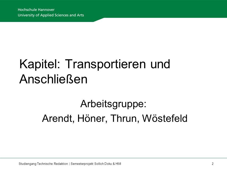 Kapitel: Transportieren und Anschließen