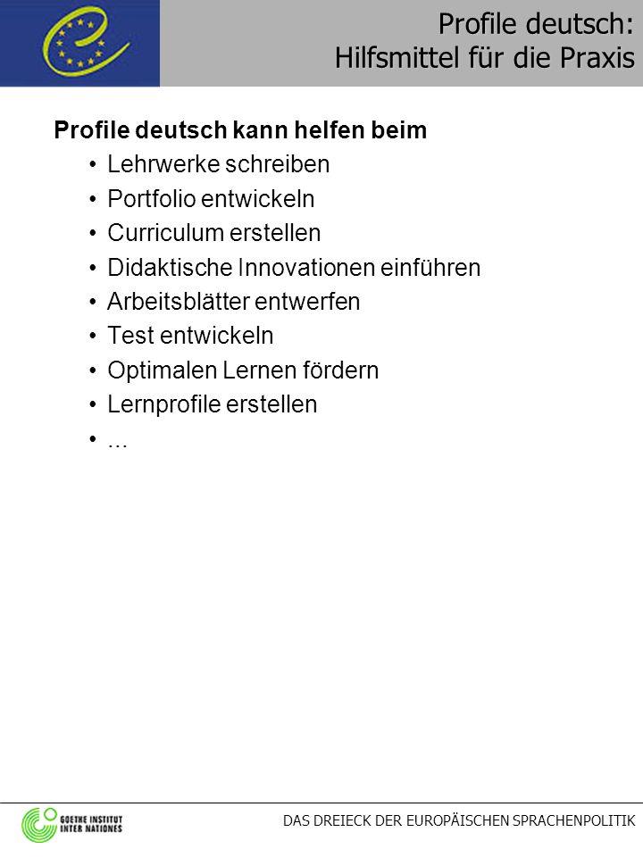 Profile deutsch: Hilfsmittel für die Praxis