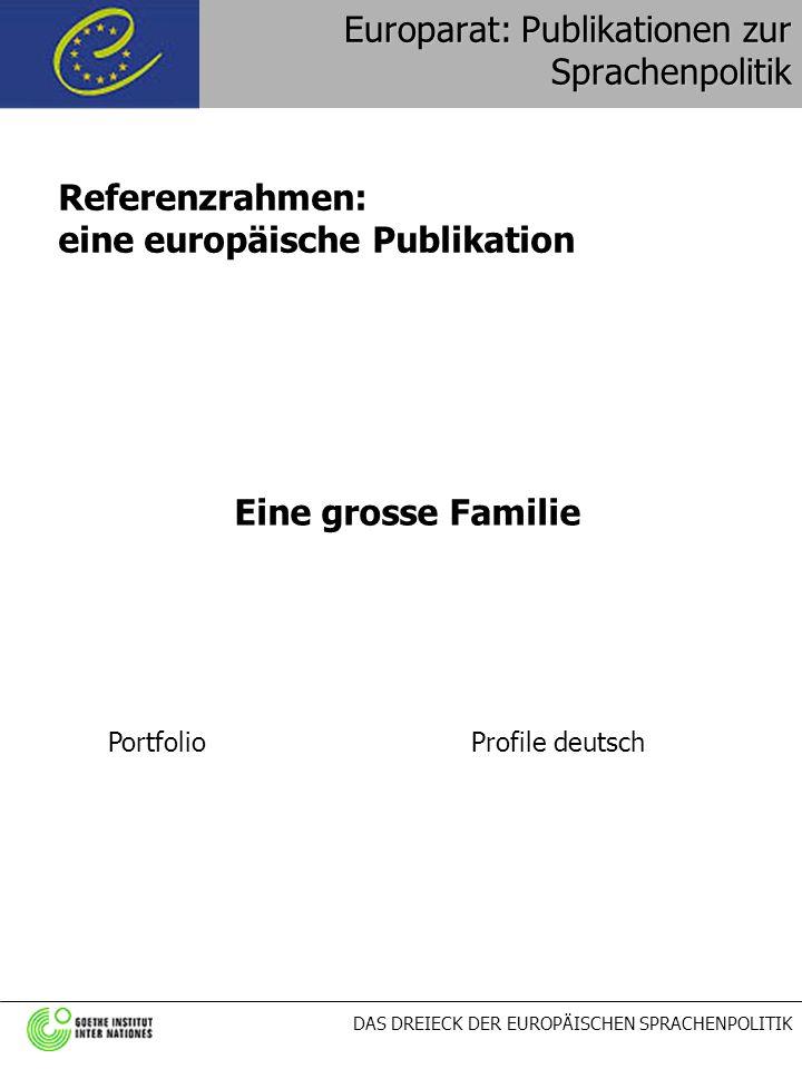 Europarat: Publikationen zur Sprachenpolitik