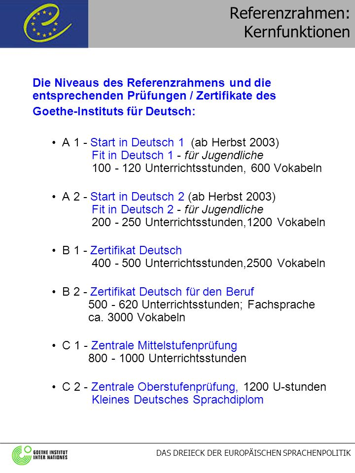 Referenzrahmen: Kernfunktionen