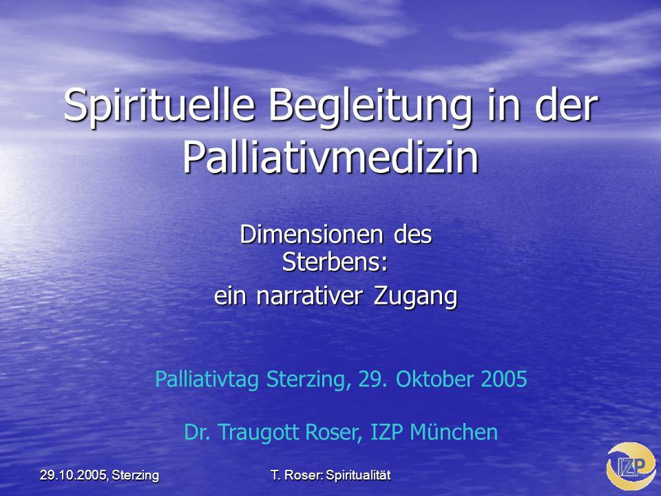 Spirituelle Begleitung in der Palliativmedizin