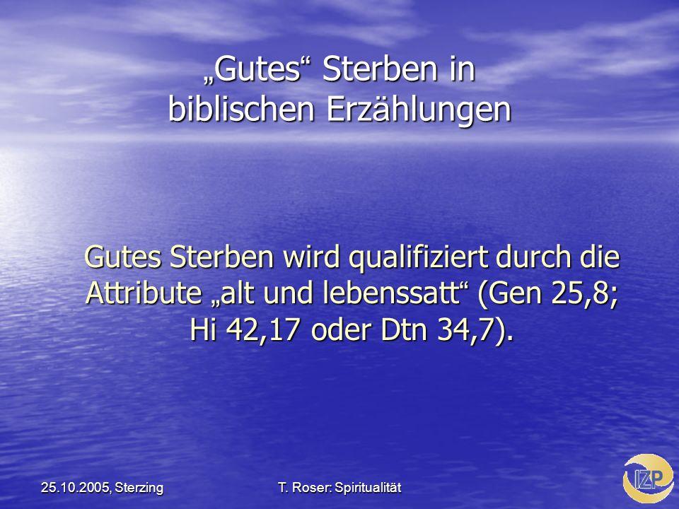 """""""Gutes Sterben in biblischen Erzählungen"""
