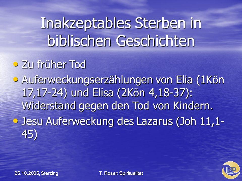 Inakzeptables Sterben in biblischen Geschichten