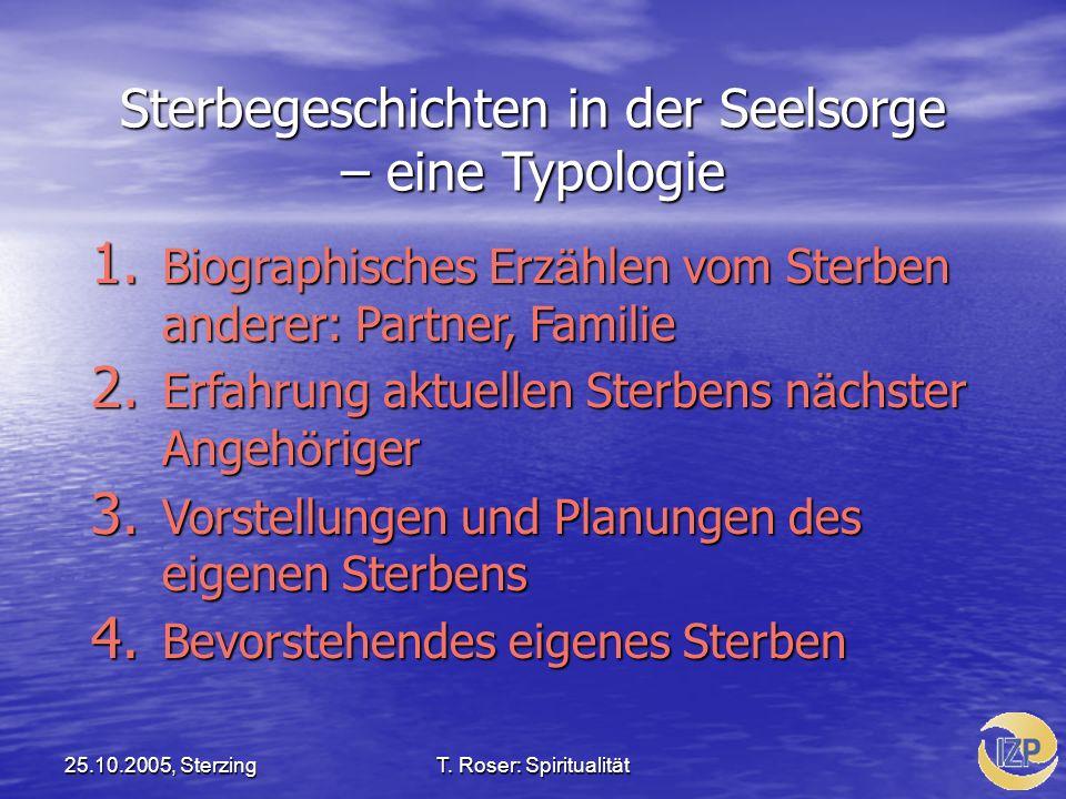 Sterbegeschichten in der Seelsorge – eine Typologie