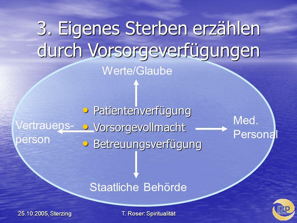 3. Eigenes Sterben erzählen durch Vorsorgeverfügungen