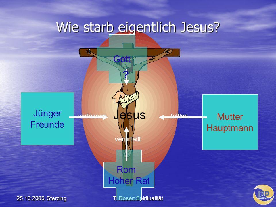 Wie starb eigentlich Jesus