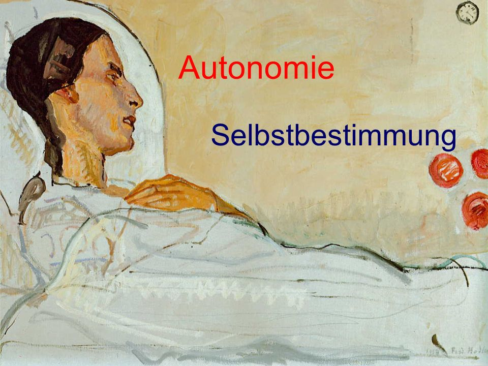Autonomie Selbstbestimmung