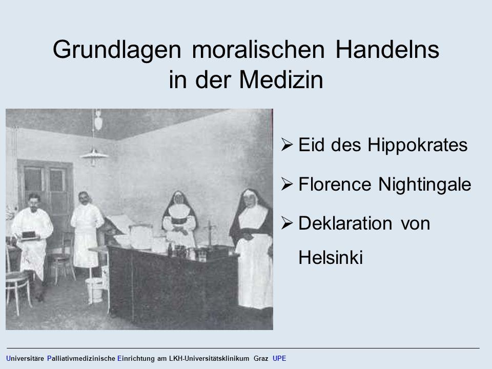 Grundlagen moralischen Handelns in der Medizin