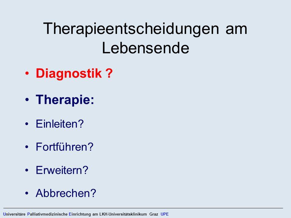 Therapieentscheidungen am Lebensende