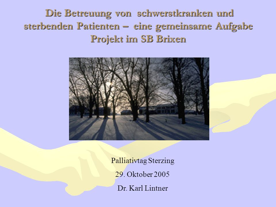 Palliativtag Sterzing