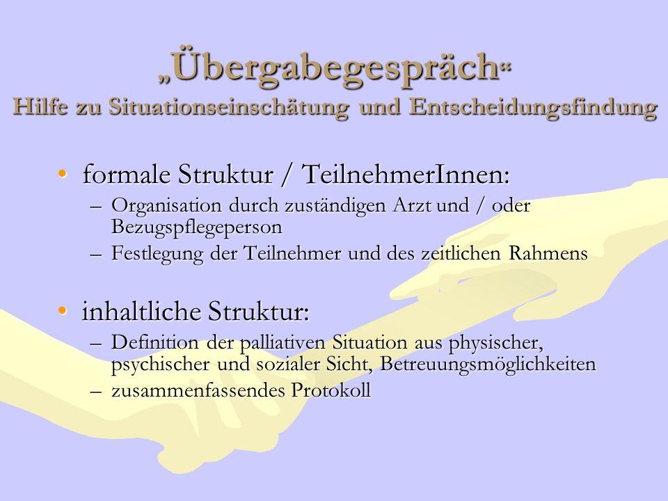 formale Struktur / TeilnehmerInnen: