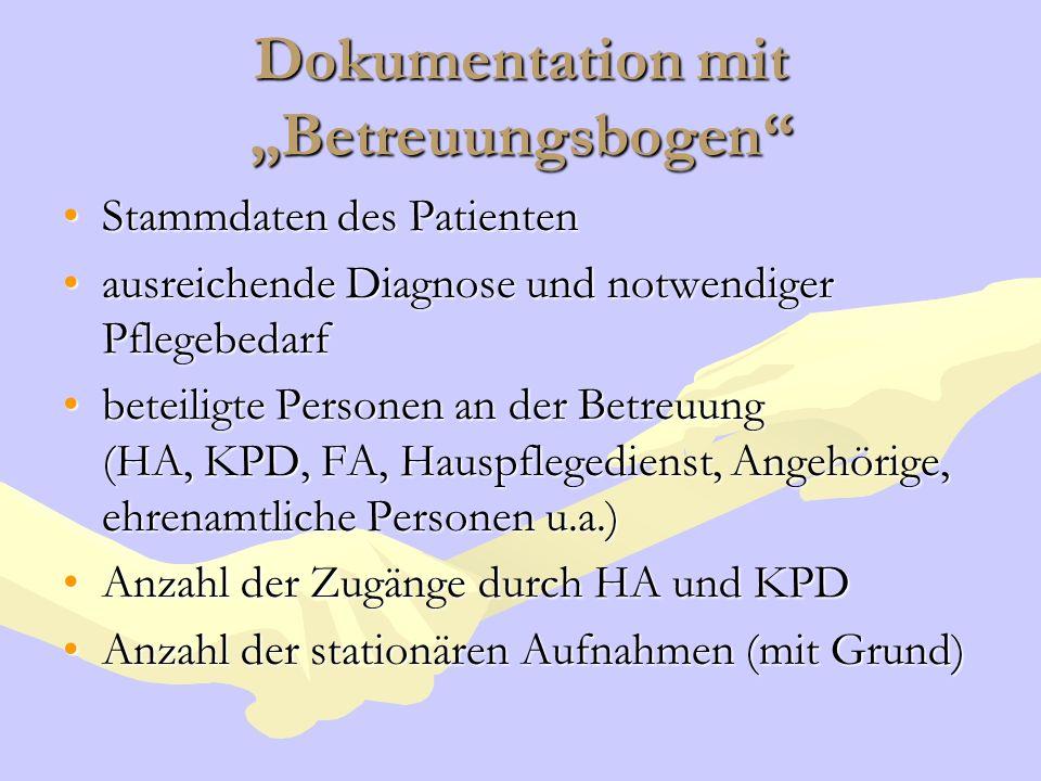 """Dokumentation mit """"Betreuungsbogen"""