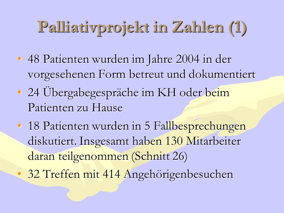 Palliativprojekt in Zahlen (1)