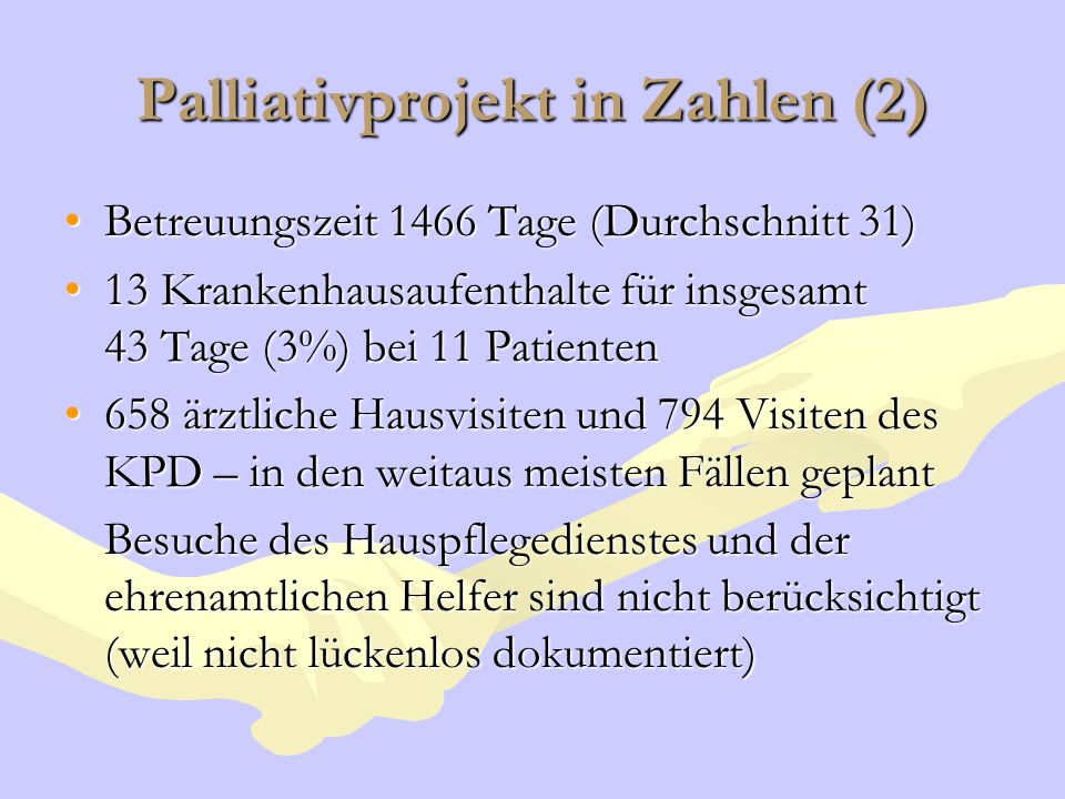Palliativprojekt in Zahlen (2)