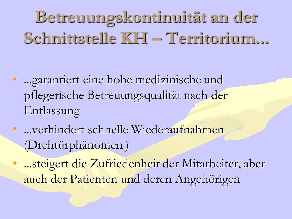 Betreuungskontinuität an der Schnittstelle KH – Territorium...
