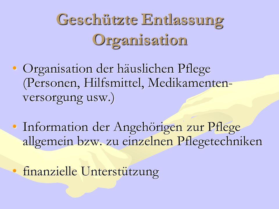 Geschützte Entlassung Organisation
