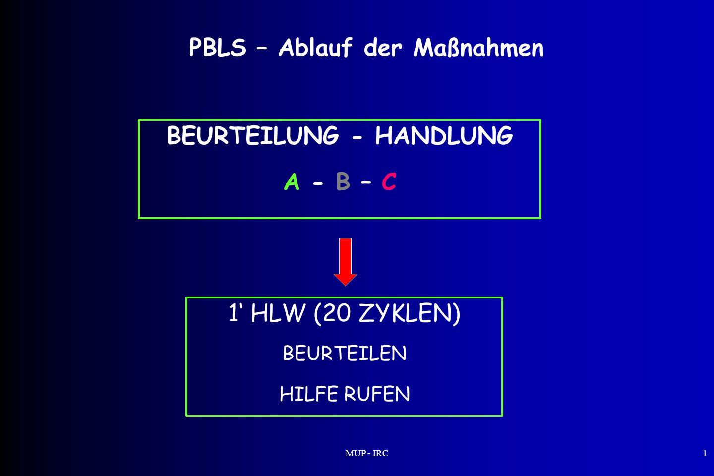 PBLS – Ablauf der Maßnahmen