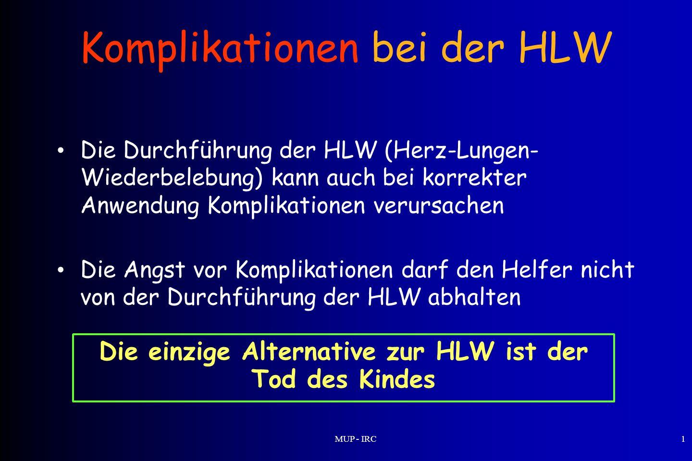 Komplikationen bei der HLW