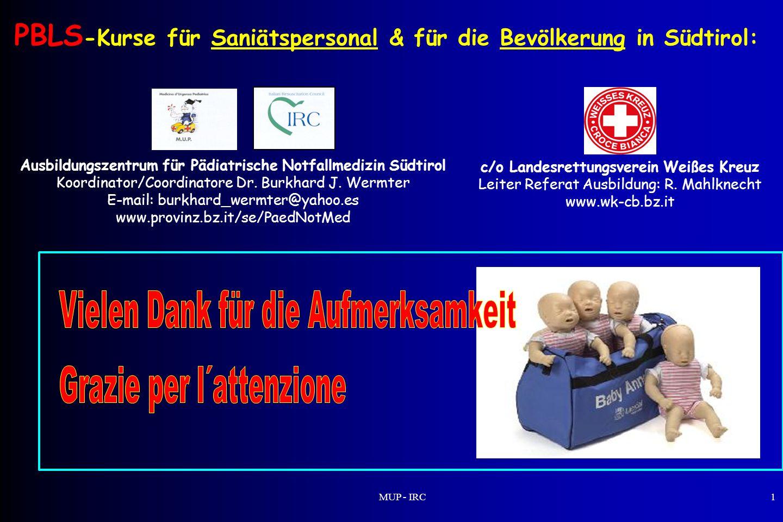 PBLS-Kurse für Saniätspersonal & für die Bevölkerung in Südtirol: