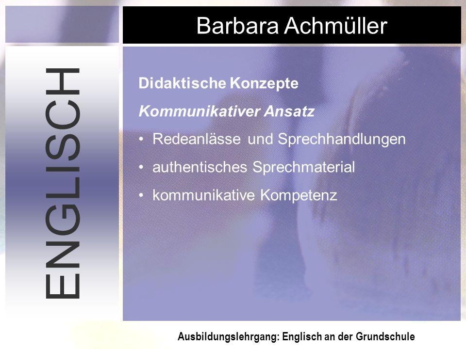 ENGLISCH Didaktische Konzepte Kommunikativer Ansatz